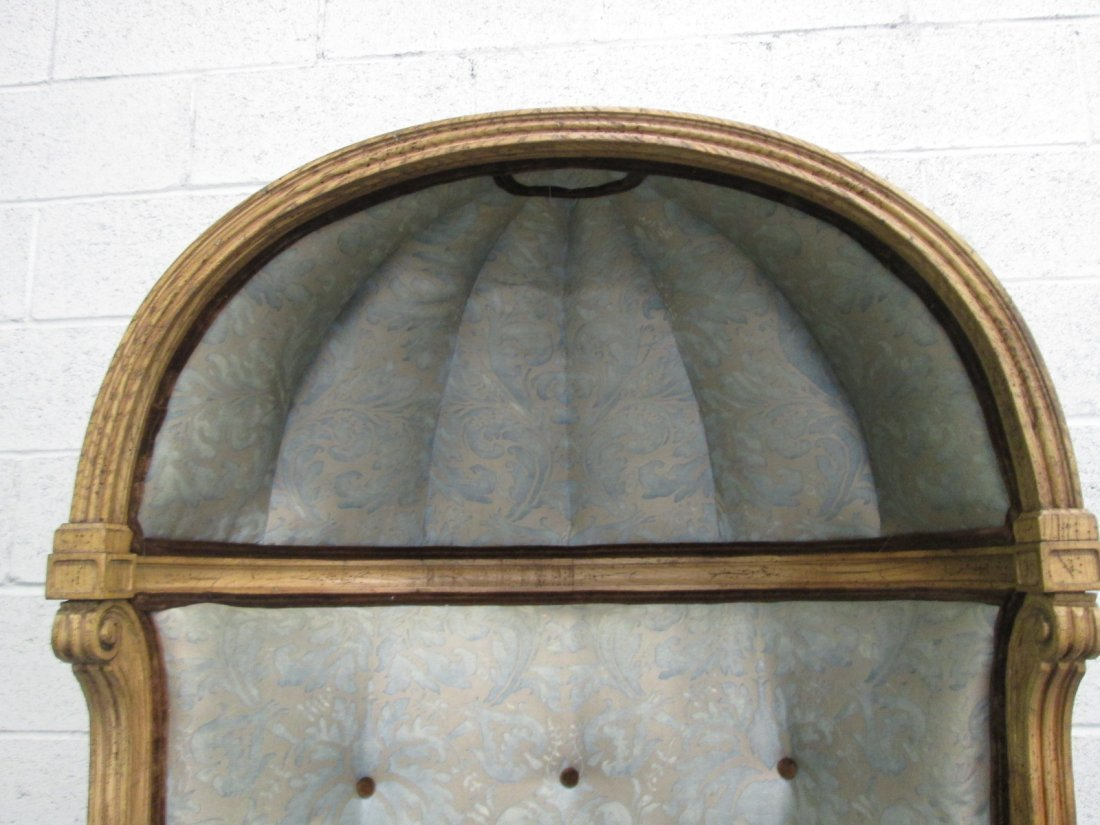 490: Antique Style Porters Hood Chair - 4