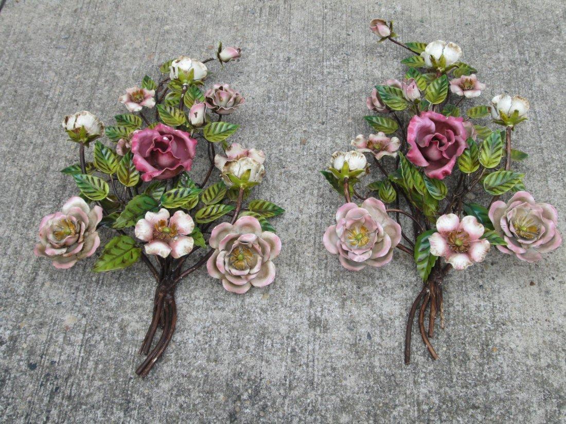 20: Pair Italian Floral Wall Art