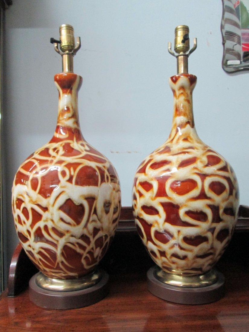 19: Pair Decorative Ceramic Lamps