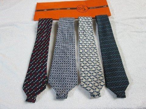 11: 4 Hermes Vintage Silk Neckties