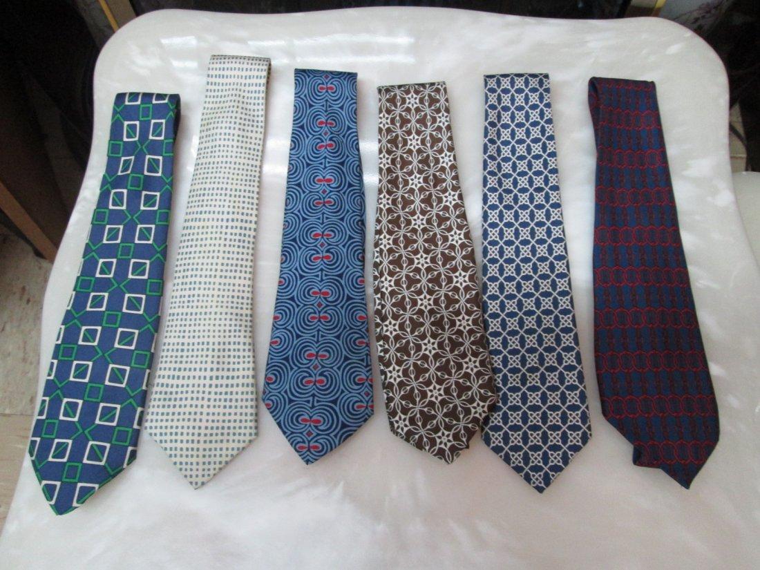 11A: 6 Hermes Vintage Silk Neckties