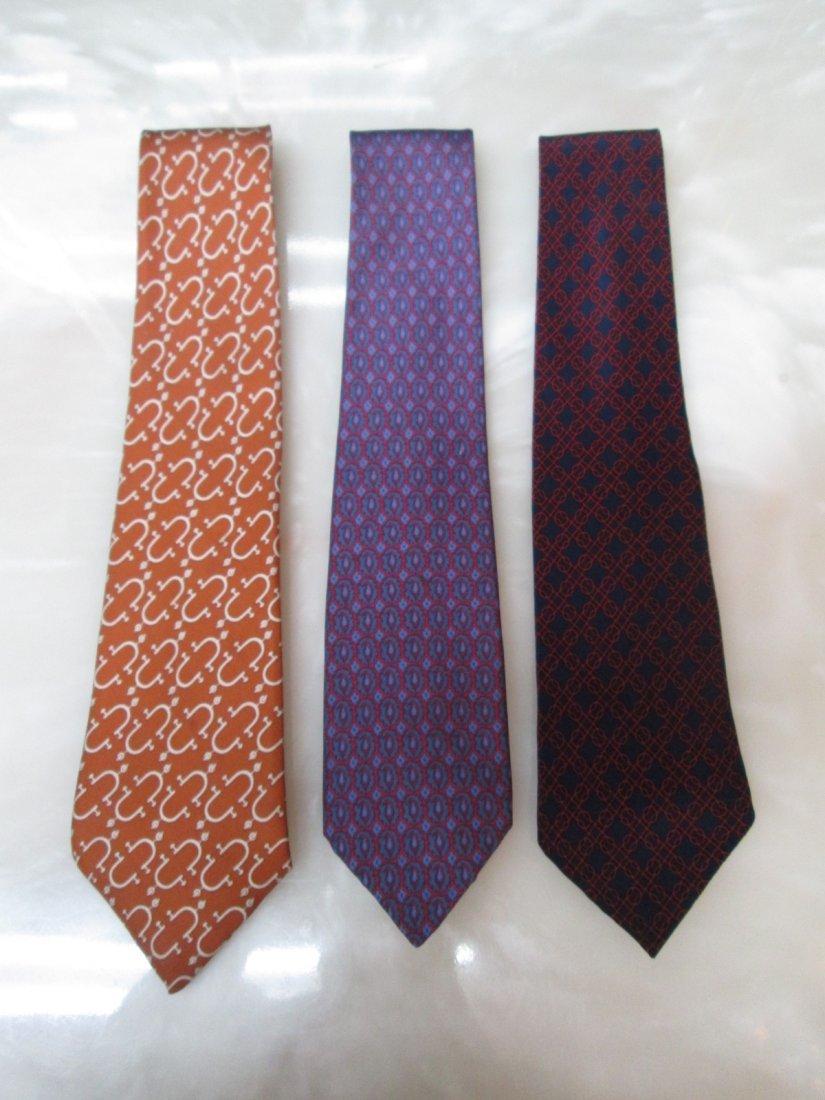 11C: 3 Hermes Vintage Silk Neckties