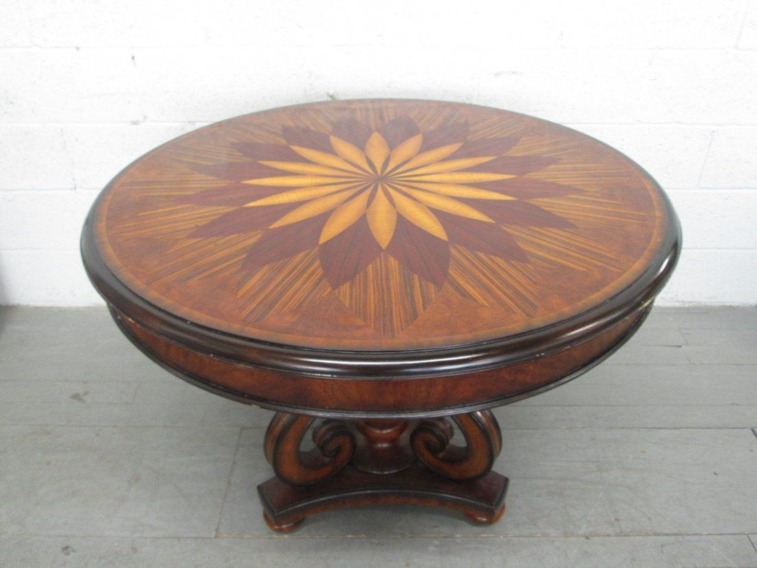Maitland Smith Inlaid Center Table Labeled