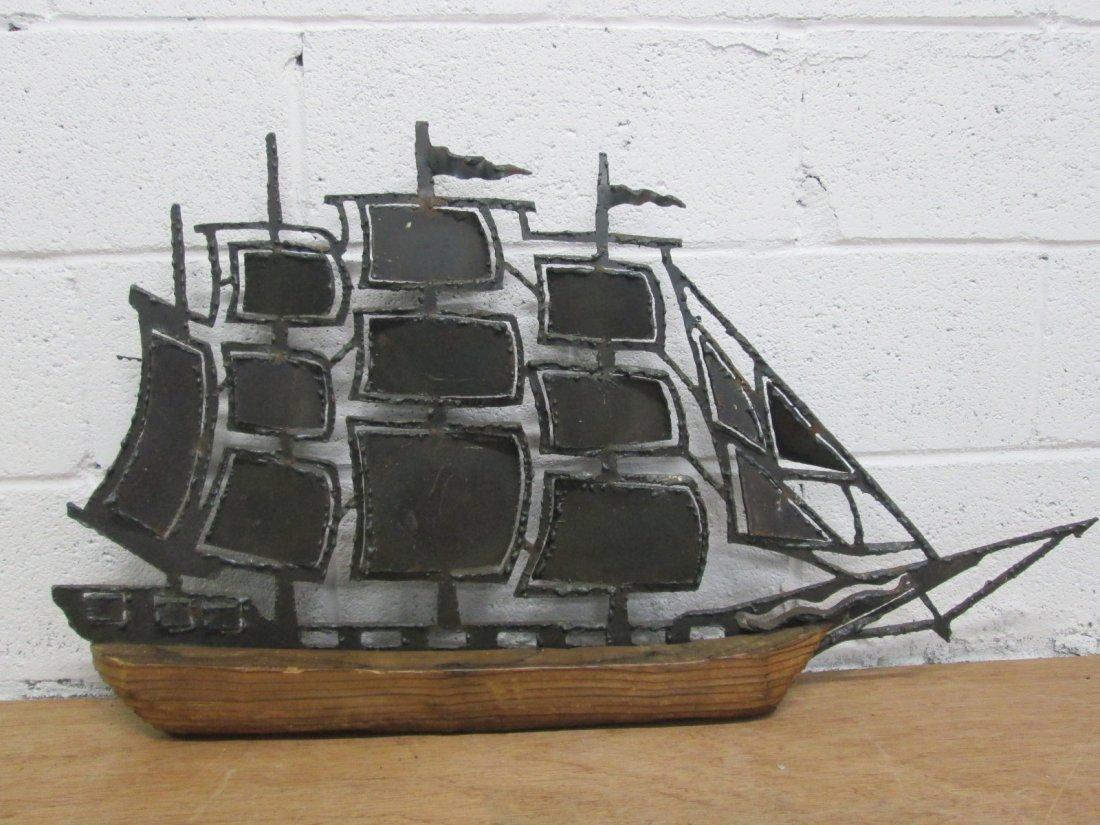 2: Brutalist  Ship Wall Sculpture