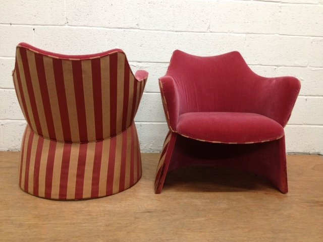 4: Pair Unique Upholstered Chairs