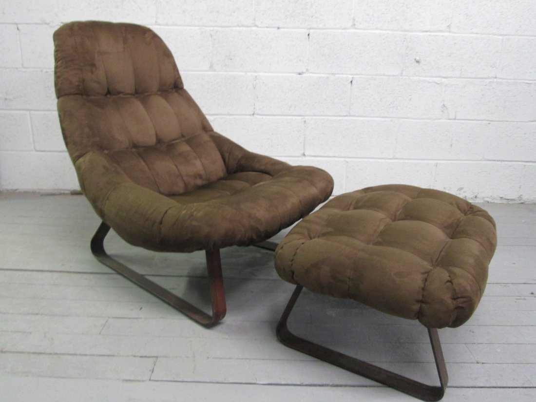 6: Percival Lafer Chair & Matching Ottoman