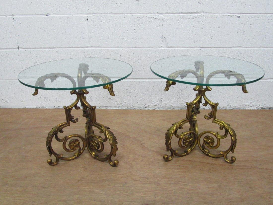 14: Pair Gold Gilt Decorative Tables