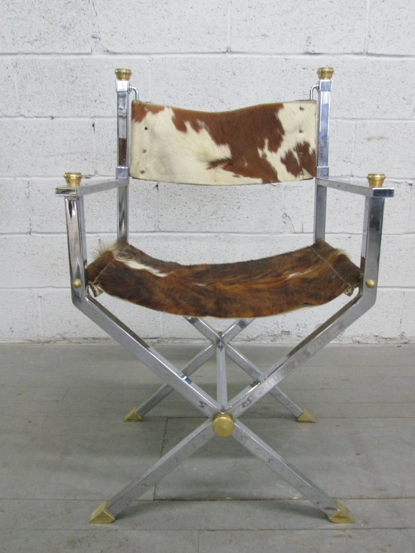19: Jansen Style Chrome & Brass Chair