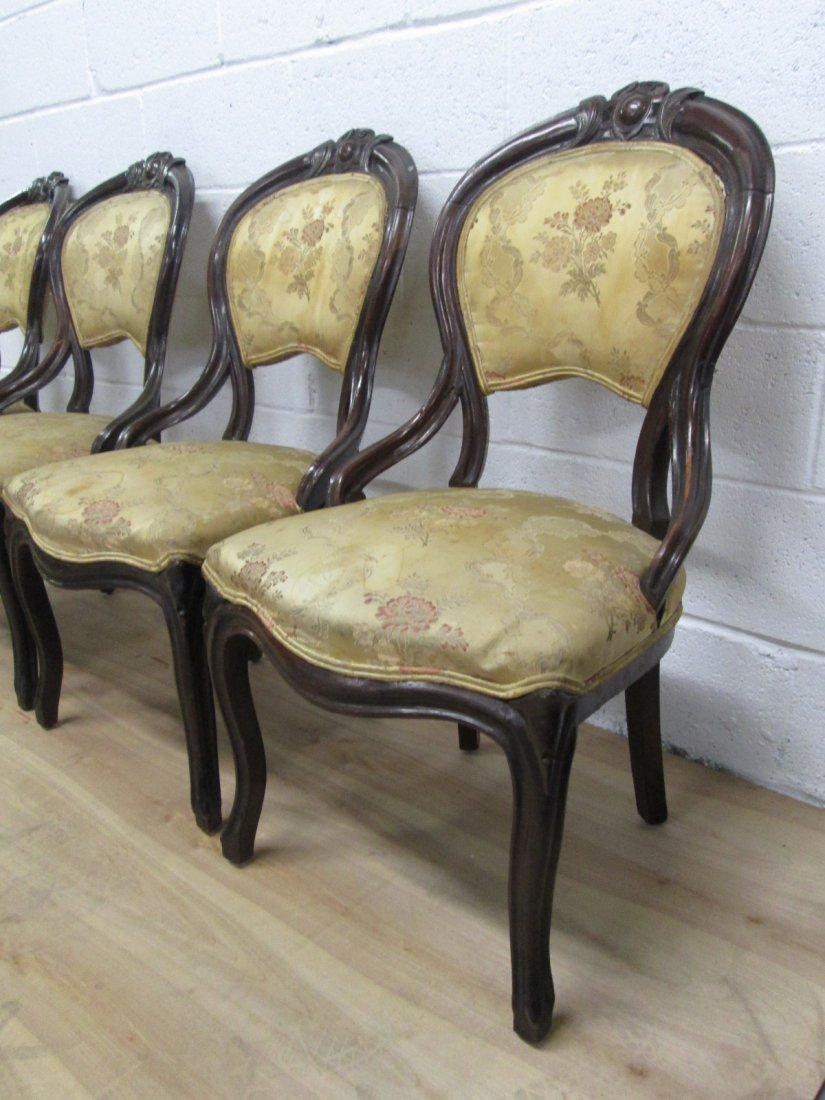 72: 4 Antique Balloon Back Chairs - 2