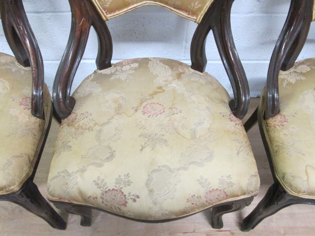 72: 4 Antique Balloon Back Chairs - 3