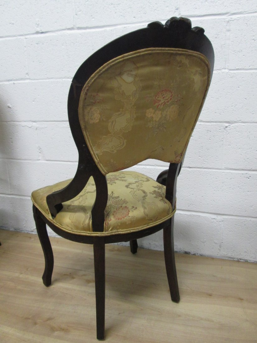 72: 4 Antique Balloon Back Chairs - 4