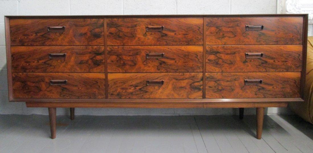 176: Mid Century Modern Rosewood Dresser Credenza