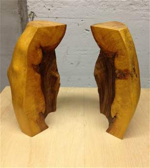 Organic Form Wooden Bookends