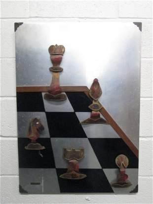 Chess Sculpture by Kovacs