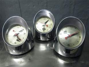 Three Vintage Jefferson Desk Clocks