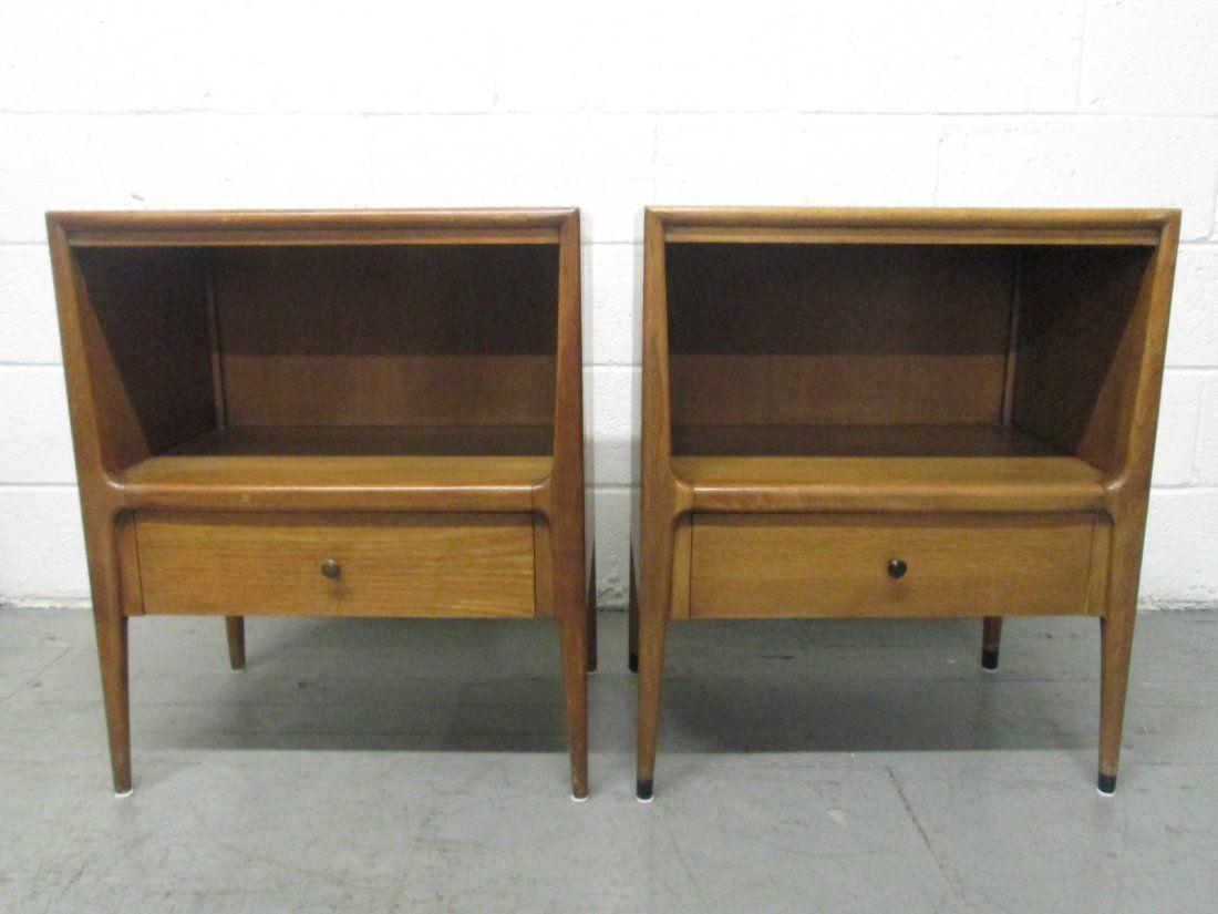 Pair Walnut Nightstands