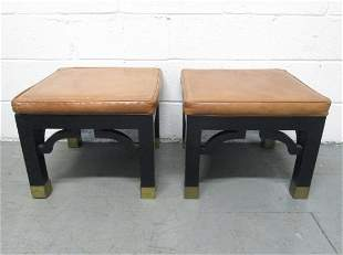 Pair Hollywood Regency Style Benches