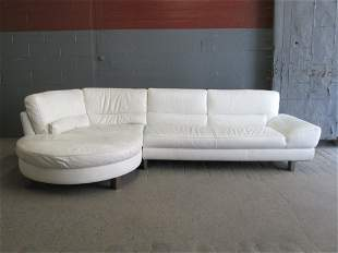 Italian Leather Sectional Sofa by Italsofa