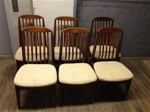 Set 6 Teak Danish Dining Chairs