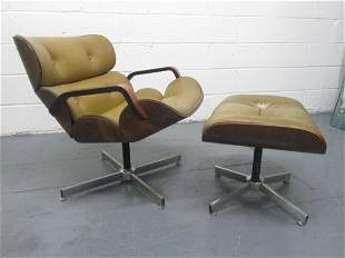 Plycraft Chair and Ottoman by George Mulhauser