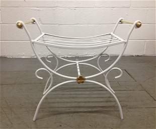 French Wrought Iron Bench