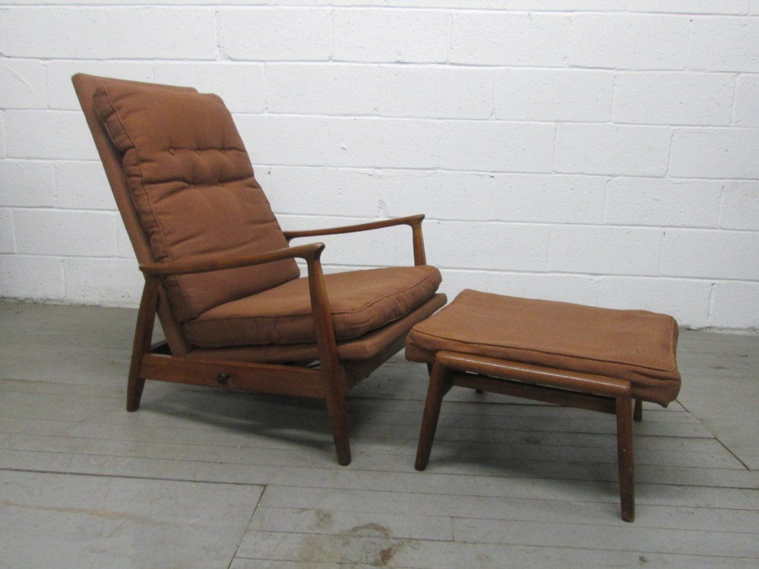 Milo Baughman Reclining Chair & Ottoman