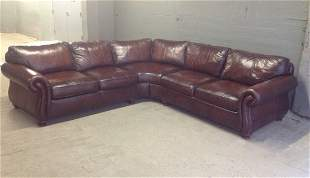 Italian Leather Sectional Sofa by Bernhardt