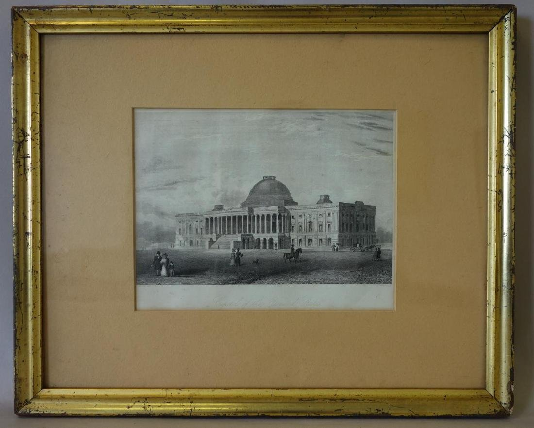 19thc Engraving, Capitol of the United States