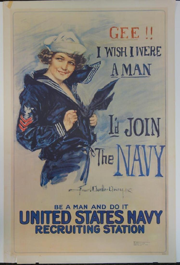 World War I Navy Recruitment Poster, Christy