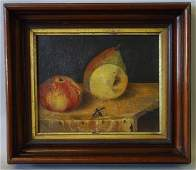 19thc Naive Still Life Painting, Oil on Canvas