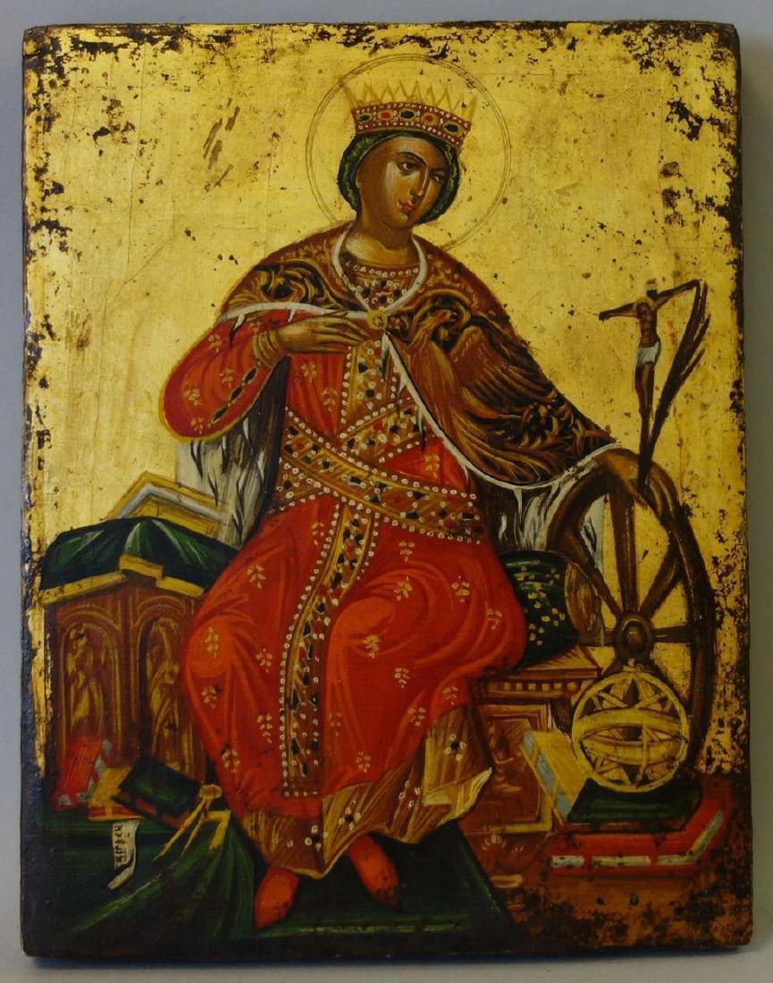 An Icon of Saint Catherine