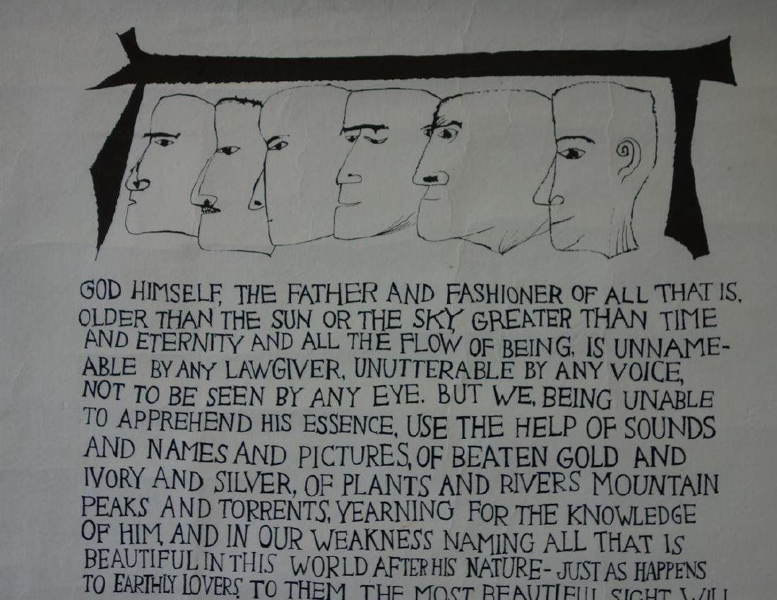 Ben Shahn (1898-1969) Words of Maximus of Tyre - 3