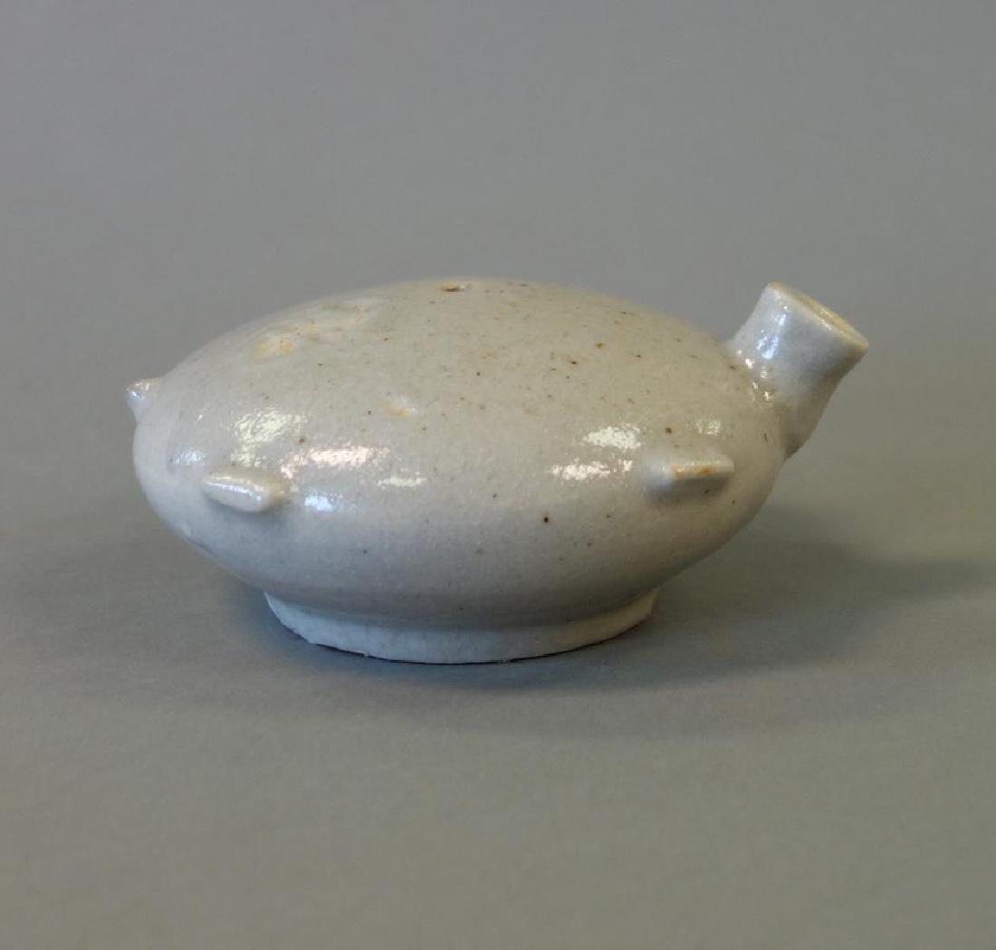 19thc Korean White Glazed Porcelain Water Dropper