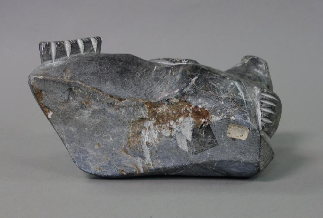 Inuit Eskimo Soapstone Carving of a Seal - 4