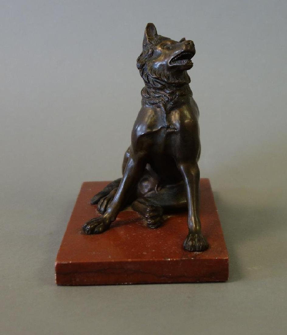 18thc Italian Bronze Model of a Seated Wolf - 2