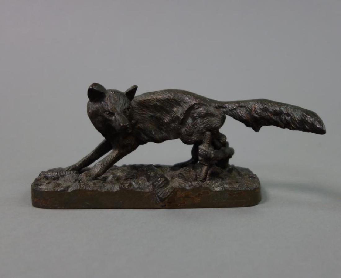 19thc Bronze Sculpture of a Fox