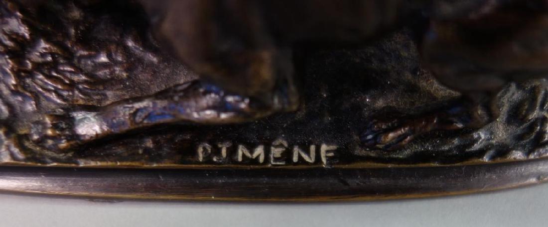 19thc P. J. Mene Bronze Hound Dogs Sculpture - 4