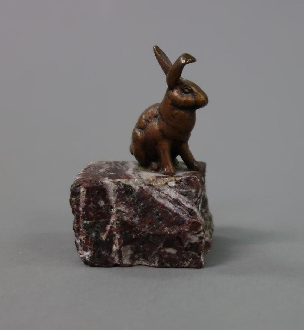 Edward Clark Potter, Bronze Rabbit & Hare - 5