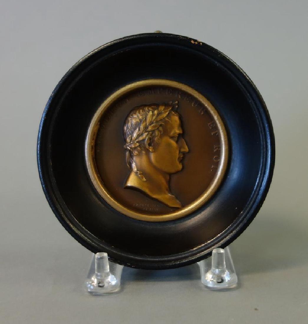 Napoleon Bronze Medallion, Strasbourg, J. P. Droz