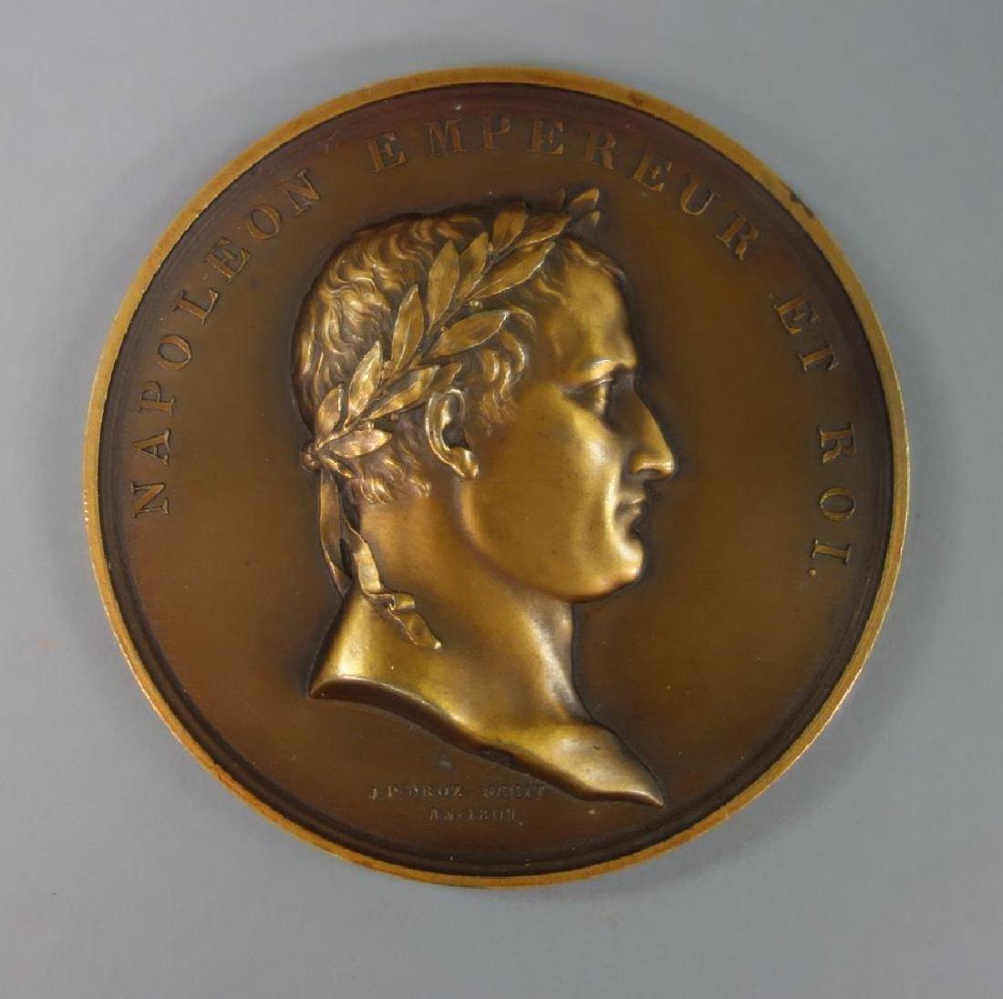Napoleon Bronze Medallion, Strasbourg, J. P. Droz - 2