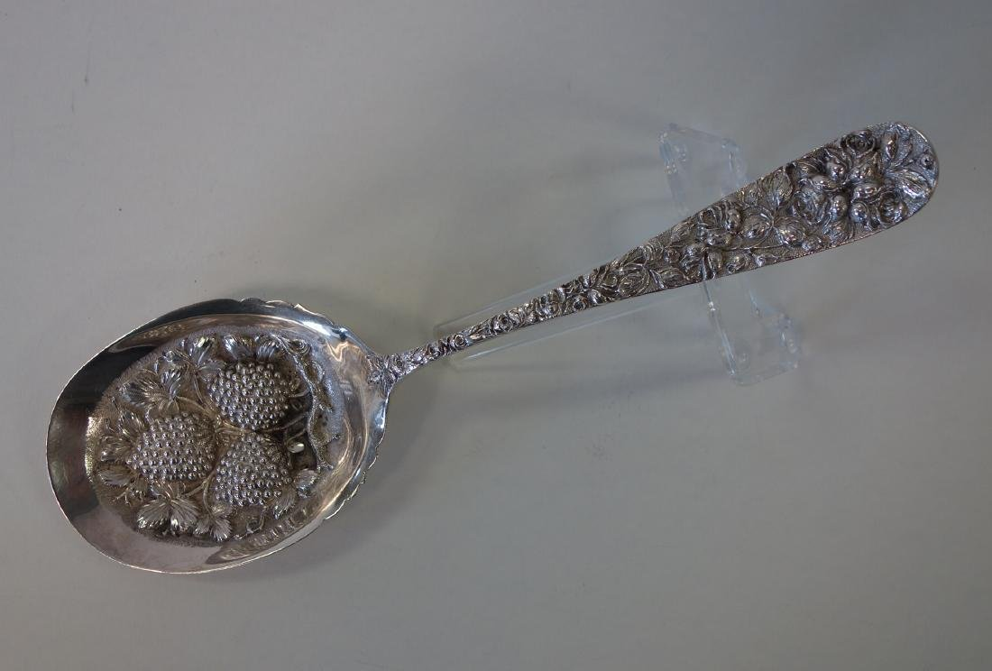 Baltimore Sterling Repousse Berry Serving Spoon