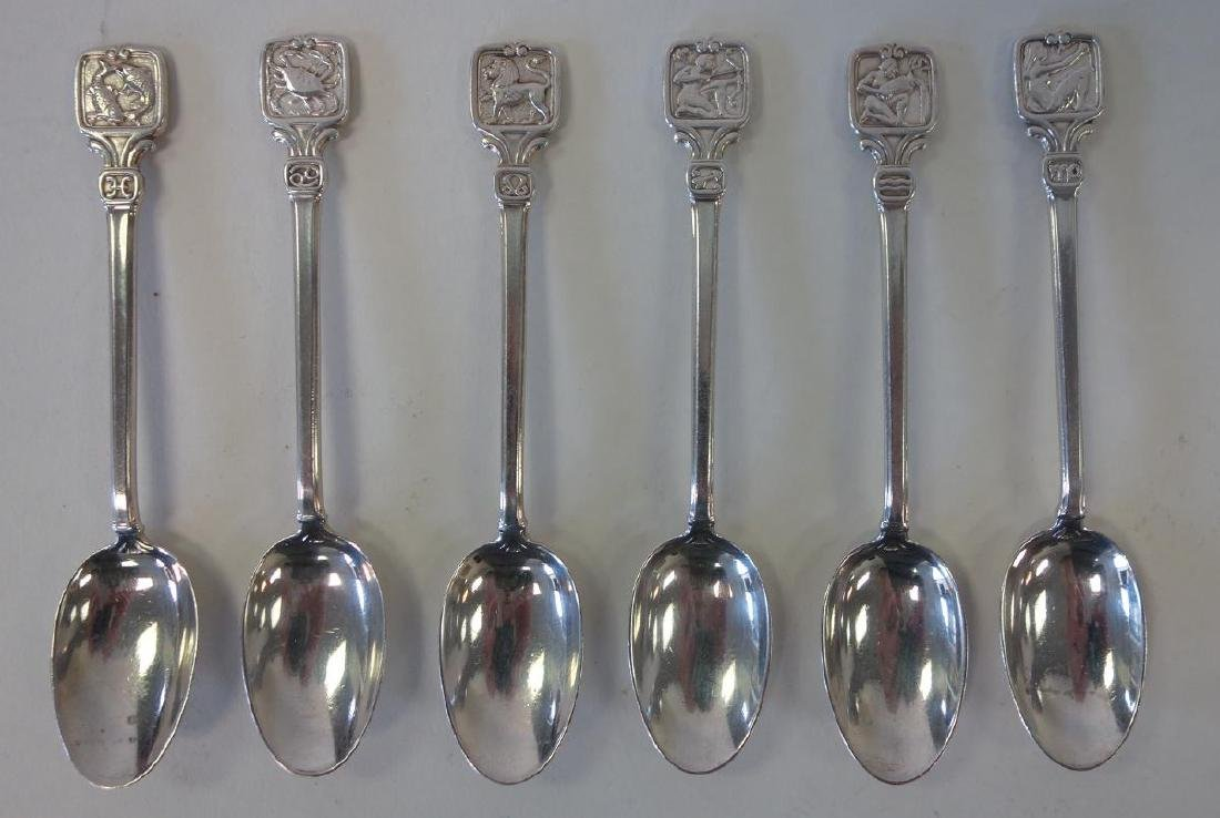 Tiffany & Co Zodiac Spoons & Chrysanthemum Sifter - 2