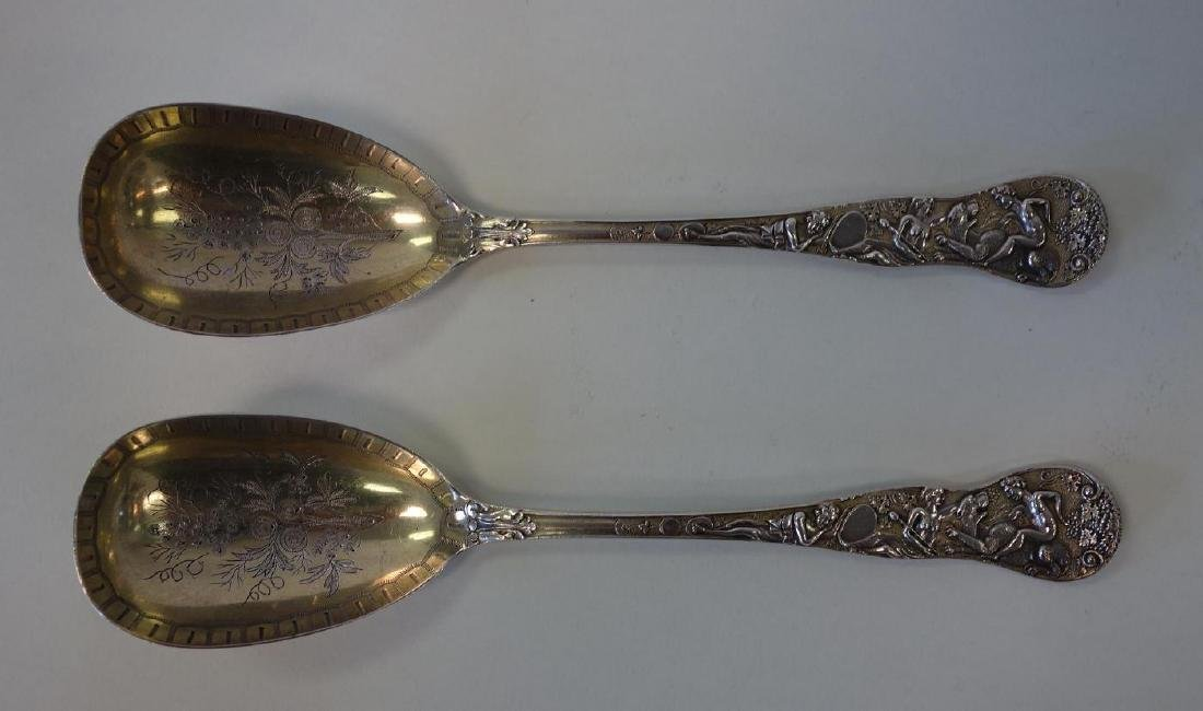 English Sterling Berry Spoons, Mythological Motif