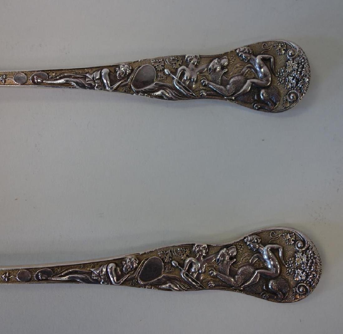 English Sterling Berry Spoons, Mythological Motif - 2