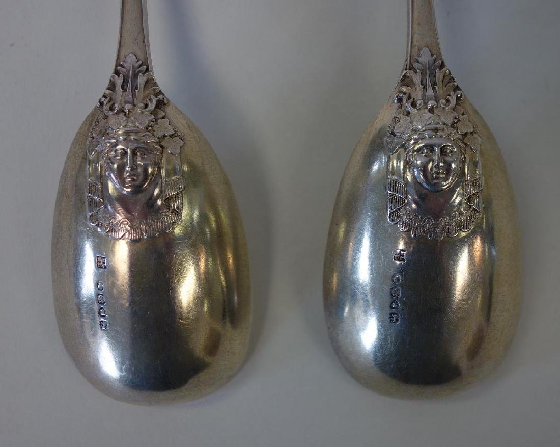 English Sterling Berry Spoons, Mythological Motif - 4