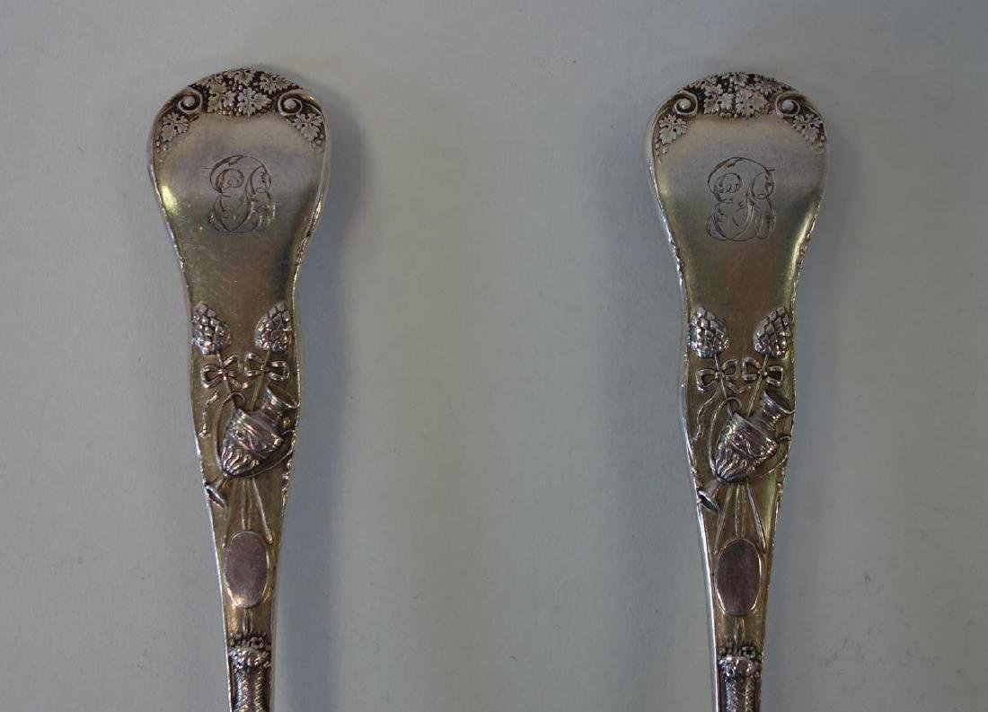 English Sterling Berry Spoons, Mythological Motif - 5