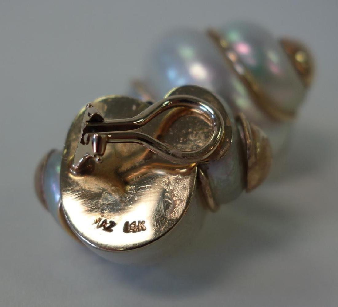 Maz 14K Gold Nautilus Shell Earrings - 2
