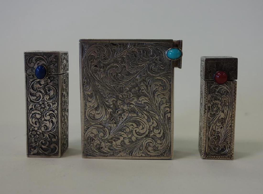 Continental Silver Lipstick Holders & Compact