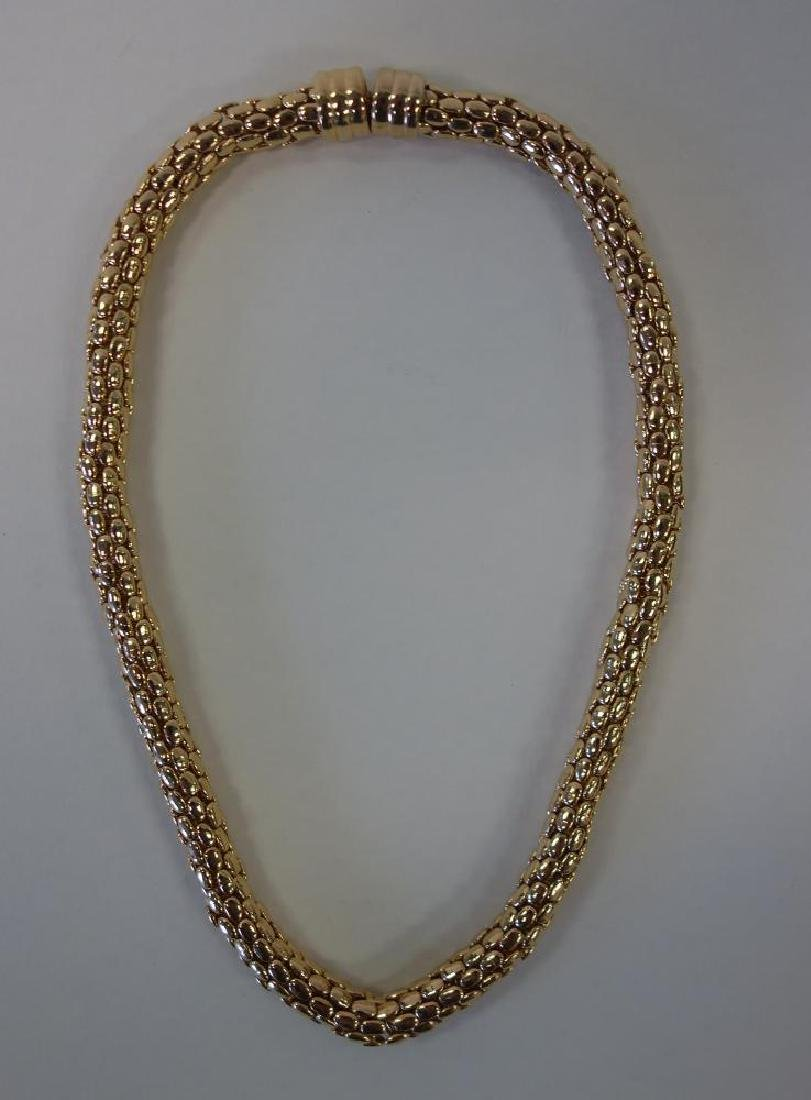 Vintage Gold Tone Choker Necklace, Rau Klikit