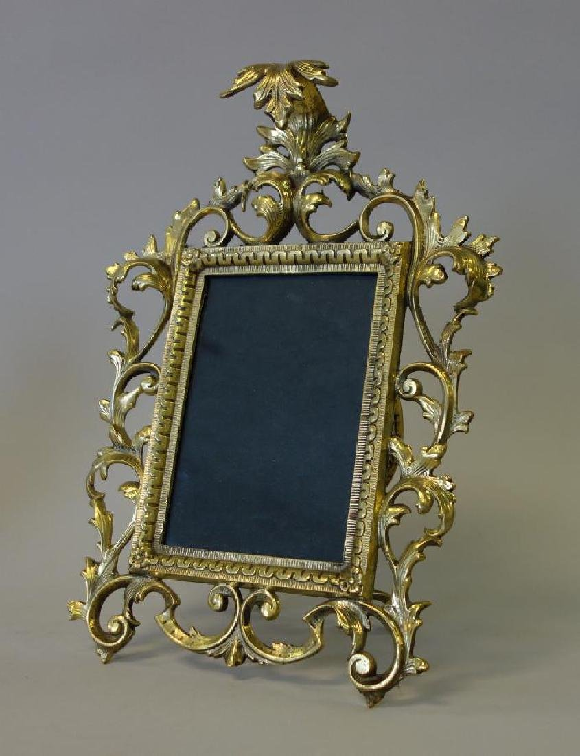 Antique Gilded Brass Photo Frame